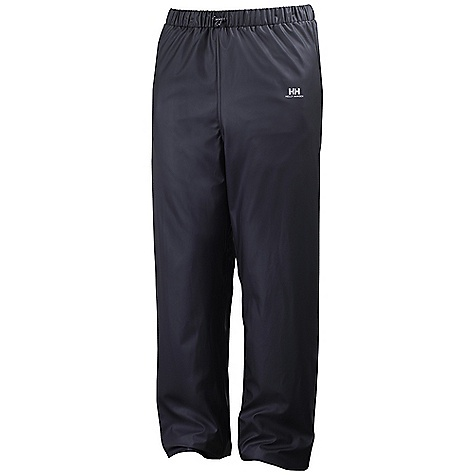 Features of the Helly Hansen Women's Voss Pant Helox+ Technology Elastic adjustable waist Adjustable snap bottom hem Quick dry inside Welded seams PU fabric construction Fully wind-and waterproof - $35.00