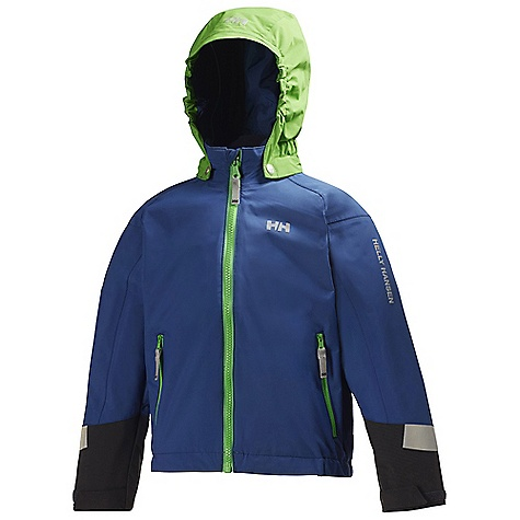 On Sale. Free Shipping. Helly Hansen Kids' Cover Jacket DECENT FEATURES of the Helly Hansen Kids' Cover Jacket Helly Tech Protection Waterproof, windproof and breathable Fully seam sealed Insulated 2-layer construction Warm Core by Prim aloft Regular fit Articulated arms and elbows Detachable hood Adjustable cuffs Multiple exterior pockets Internal pockets YKK zippers Reflective elements The SPECS Weight: 1330 gram 100% Polyester This product can only be shipped within the United States. Please don't hate us. - $58.99