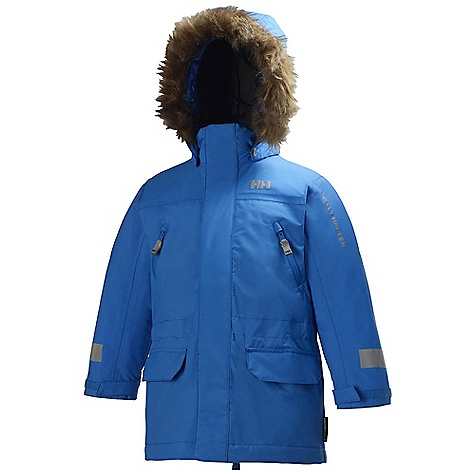 On Sale. Free Shipping. Helly Hansen Kids' Powder INS Parka DECENT FEATURES of the Helly Hansen Kids' Powder INS Parka Helly Tech Protection Waterproof, windproof and breathable Fully seam sealed Insulated 2-layer construction Warm Core by Prim aloft 3/4 length regular fit Articulated arms and elbows Detachable hood Adjustable cuffs Multiple exterior pockets Internal pockets YKK zippers Reflective elements Detachable faux fur The SPECS 100% Polyamide This product can only be shipped within the United States. Please don't hate us. - $58.99
