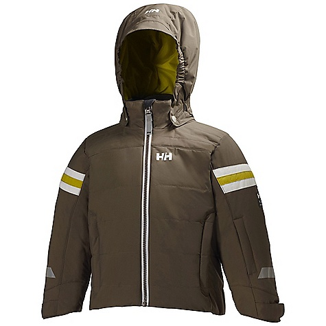 Free Shipping. Helly Hansen Kids' Velocity INS Jacket DECENT FEATURES of the Helly Hansen Kids' Velocity INS Jacket Spray Tech Protection Water-resistant, windproof and breathable fabric Critically seam sealed Insulated 2-layer construction Warm Core by Prim aloft Regular fit Articulated arms and elbows Detachable hood Adjustable cuffs Multiple exterior pockets Internal pockets YKK zippers Reflective elements The SPECS 100% Polyamide This product can only be shipped within the United States. Please don't hate us. - $109.95