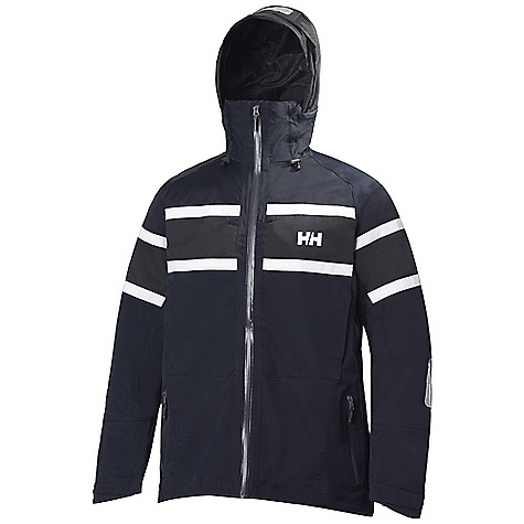 The Helly Hansen Men's Salt Jacket is a waterproof jacket for on or off shore weather protection. The Salt is made of a 2 ply construction with HELLY Tech Performance and a durable water repellent treatment to shed the wet stuff and allow your body to breathe. A harsh wind coming off the water? No problem for this nautical inspired jacket, whether you're on the boat, or prefer your feet firmly planted on solid ground. The regular Fit allows for layers underneath and falls to the hip. The lined inside provides all-day comfort with a Polartec fleece collar for coziness against your baby soft chin and neck. The drop hood pushes out of the way on mild days, while still allowing the collar to stand up to protect your neck. Two hand pockets and two chest pockets secure Items close by so your tools and snacks Are always handy. Time to hit the High seas, you old salt!Features of the Helly Hansen Men's Salt Jacket Helly Tech Performance One-hand adjustable hem Kill cord D-ring Hanger loop Chest pockets Hand warmer pockets Hip length, Solas reflectives Polartec fleece collar Water-resistant front zip Fully adjustable tonal hood Quick dry lining Lined for comfort Durable Water Repellency treatment (DWR) Fully seam sealed 2 ply fabric construction Waterproof, windproof and breathable - $249.95