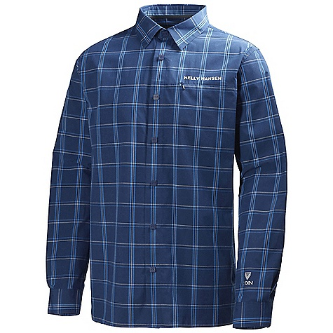 On Sale. Free Shipping. Helly Hansen Men's Odin Chill Shirt DECENT FEATURES of the Helly Hansen Men's Odin Chill Shirt Recycled Polyester Yarn dyed check Quick dry The SPECS Fabric: 65% Polyester 35% Organic cotton Weight: 300 g This product can only be shipped within the United States. Please don't hate us. - $43.99