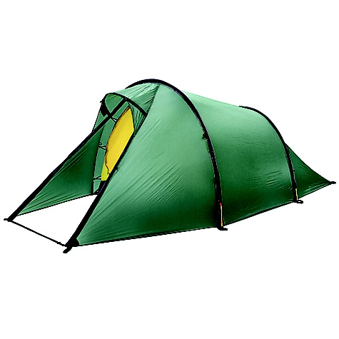 Camp and Hike Free Shipping. Hilleberg Nallo 3 Person Tent FEATURES of the Hilleberg Nallo 3 Person Tent Outer tent fabric is Kerlon 1200 and the poles are 9mm, which make tent very lightweight and give stability to tent Outer tent walls can be extend to the ground and mesh area are backed with adjustable fabric panels Tunel construction provided maximum space to weight which is ideal choice for mobile journey This tent can be use ideally for two person Separable inner and outer tent for simultaneous pitching Tent require four pegs for pitching. This provide tent quick and remarkably stable Single entrance tent with single vestibule configuration allows for easy entrance and storage space Rear outer wall can provide a better venting options Add on the optional footprint that will cover the entire tent and vestibule and can be left attached to the tent even when pitching Inner tent is replaceable by a mesh inner tent The complete tents outer or inner tents can be used separately. With adjusting some few minor settings moving detachable pole holder from the outer to inner tent Designed for short and long trips in less harsh environments and conditions in all seasons like the forests in winter and summer Great for withstanding heavy storms, but the lighter weight is not ideal on super harsh extended trips Capable of withstanding heavy storm conditions, and the lighter weight is why some experienced hikers take this along instead of a more durable, heavier tent. It's all about the weight Outer tent goes all the way to the ground for awesome all weather protection Designed using lighter weight zippers and inner tent and floor fabrics to keep the weight at a minimum - $785.00