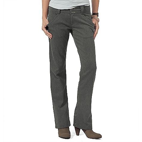On Sale. Free Shipping. Horny Toad Women's Postman Pants FEATURES of the Women's Postman Pant by Horny Toad Inseams: size 2/4 = 32in., 6/8 = 33in., 1-14 = 34in. Striped shirting fabric lines pockets and waistband Waistband with back notch detailing Front beltloop has a snap to hold keys Zip fly with two-button closure Slash pockets with stitch detailing Back asymmetrical double welt pockets with button closures Straight leg Fabric: 70% cotton, 29% polyester, 1% spandex - $30.99