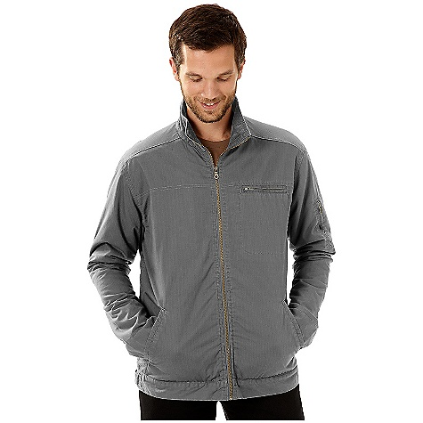 On Sale. Free Shipping. Horny Toad Men's Barstow Jacket (Fall 2010) FEATURES of the Men's Barstow Jacket by Horny Toad Convertible collar can be zipped up for warmth or folded down Full-front zipper Collar and cuffs are lined with corduroy Zip chest pocket Zip sleeve pocket Two slash hand pockets Two-button adjustable cuff Two-button adjustable tabs on hips Fabric: 100% organic cotton - $59.99