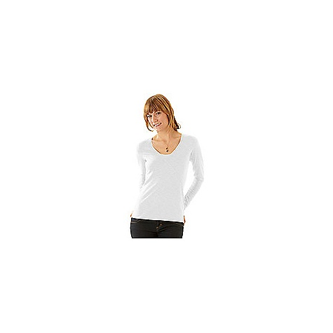 On Sale. Free Shipping. Horny Toad Women's Oblique-V Top DECENT FEATURES of the Horny Toad Women's Oblique-V Top Faux wrap neckline with inset panel Long sleeves Double-needle topstitching throughout The SPECS Samba is 48% Tencel 48% organic cotton 4% spandex - $36.99