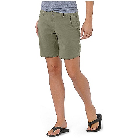 On Sale. Free Shipping. Horny Toad Women's Wearabout 8IN Short DECENT FEATURES of the Horny Toad Women's Wearabout 8 Inches Short Zipper fly with double-snap closure Curved front pockets with drop-in side stash pocket Hidden zipper welt back pocket Inseam gusset panel Drain and dry mesh pocketing Scallop side hem The SPECS Inseam: 8in. Fabric: Quickdry Stretch is 93% nylon and 7% spandex - $22.99