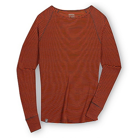 Free Shipping. Ibex Men's Woolies Striped Crew Top DECENT FEATURES of the Ibex Men's Woolies Striped Crew Top Form fit Raglan sleeves Flatlock seams Tag-free labels Imported The SPECS 100% ZQ New Zealand Merino Wool 18.5 micron Lightweight Rib Knit 150 g/m2 - $85.00