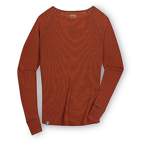 Free Shipping. Ibex Women's Woolies Crew Stripe Top DECENT FEATURES of the Ibex Women's Woolies Crew Stripe Top Form fit Wide sleeve cuff detail Flatlock seams Tag-free labels Imported The SPECS 100% ZQ New Zealand Merino Wool 18.5 micron Lightweight Rib Knit 150 g/m2 - $85.00