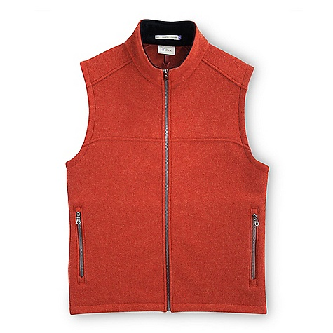 On Sale. Free Shipping. Ibex Men's Arlberg Vest DECENT FEATURES of the Ibex Men's Arlberg Vest Semi-fit Full front zip Zippered hand pockets Black milled Merino on inside collar Hand wash or Dry clean The SPECS Fabric: 100% Wool 25 Micron Cold Water Processed Austrian Wool 555 g/m2 - $135.99