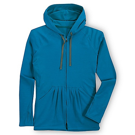 Free Shipping. Ibex Women's Synergy Hoody DECENT FEATURES of the Ibex Women's Synergy Hoody Relaxed fit Tag free label Full front zip Thumbholes Drawstring hood Kangaroo pockets with shirring detail The SPECS Fabric: 49% Organic Cotton, 48% Merino Wool, 3% Lycra 18.5 Micron Ibex Exclusive Triple Plaited GOTS Certified Organic Cotton and Zque Certified Merino Wool 280 g/m2 - $159.95