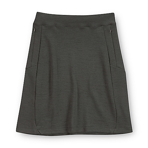 On Sale. Free Shipping. Ibex Women's Izzi Skirt DECENT FEATURES of the Ibex Women's Izzi Skirt Modified A-line Knee length Comfortable elastic waistband Zippered hand pockets Length: extra small: 19in., small: 21in., M-XL=22in. The SPECS Fabric: 88% Zque New Zealand Merino Wool, 7% Nylon, 5% Lycra 21 Micron Heavyweight Stretch Wool 350 g/m2 - $82.99