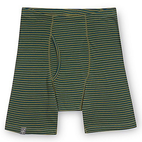 Free Shipping. Ibex Men's Woolies 150 Stripe Boxer Brief DECENT FEATURES of the Ibex Men's Woolies 150 Stripe Boxer Brief Form fit Fly equipped; double panel construction Flatlock seams Tag-free labels Imported The SPECS Inseam: small: 5in., medium: 5.5in., long: 5.5in., extra long: 5.75in., XXL: 6in. 100% ZQ New Zealand Merino Wool 18.5 micron Lightweight Rib Knit 150 g/m2 - $55.00