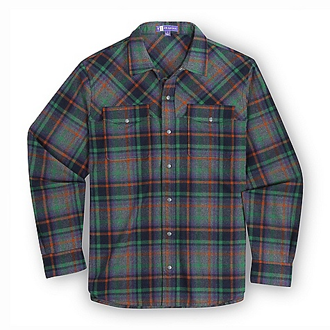 Free Shipping. Ibex Men's Taos Plaid Shirt FEATURES of the Ibex Men's Taos Plaid Shirt Mid-weight wool blend snap-front shirt Snap-front with logo detail Chest pocket and sleeve cuffs with logo snap closures Hanger loop and snap closure at back collar Front and back yokes Imported - $195.00