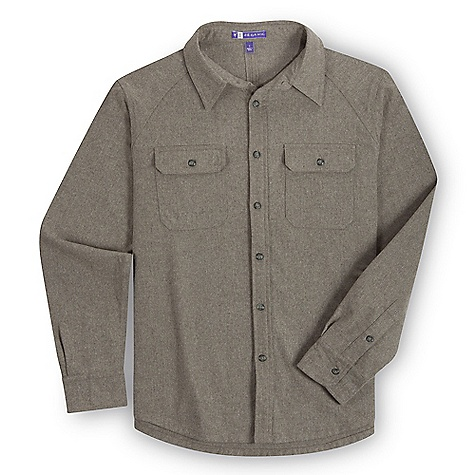 Free Shipping. Ibex Men's Woodstocker Shirt DECENT FEATURES of the Ibex Men's Woodstocker Shirt Semi-fit Button down placket and cuffs Chest pocket with button flaps Yoke in back Triple needle stitching Imported The SPECS Fabric: 75% Virgin Wool, 25% Nylon 20.5 Micron Lightweight Twill Weave 260 g/m2 - $174.95