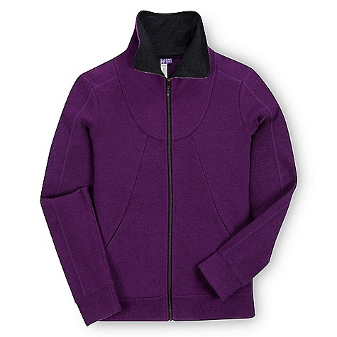 On Sale. Free Shipping. Ibex Women's Alana FZ Jacket DECENT FEATURES of the Ibex Women's Alana FZ Jacket Semi-fit High collar (can be worn fully zipped, or turned back) Wool jersey lined collar Handwarmer pockets Banded cuff and hem The SPECS Fabric: 86% Zque New Zealand Merino Wool, 14% Polyester 21 Micron Light Milled Merino Boucle 320 g/m2 - $137.99