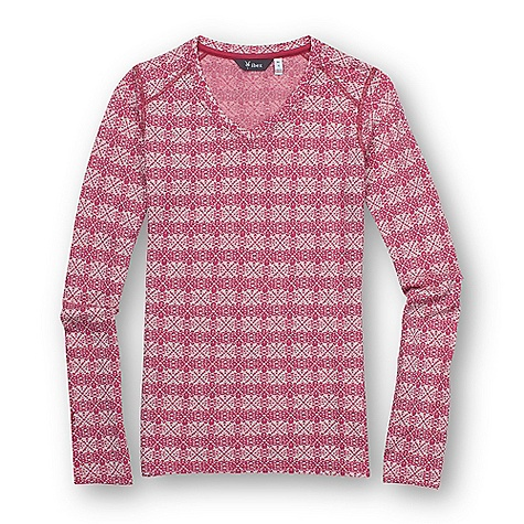 Free Shipping. Ibex Women's Indie Flake Jersey DECENT FEATURES of the Ibex Women's Indie Flake Jersey Form-fit Soft V-neck Set-in sleeves Snowflake jacquard pattern The SPECS Fabric: 100% Zque New Zealand Merino Wool 18.5 Micron Mid-weight Jersey 195 g/m2 - $99.95
