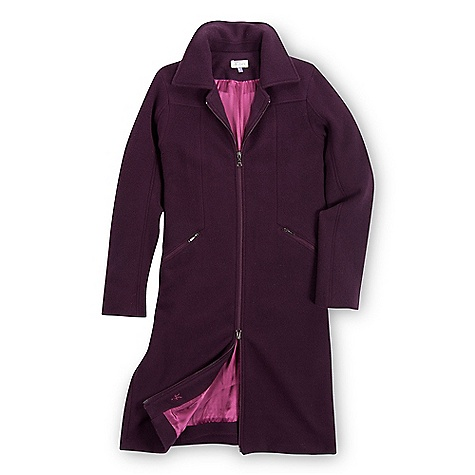 On Sale. Free Shipping. Ibex Women's Chamonix Coat DECENT FEATURES of the Ibex Women's Chamonix Coat Tailored fit Calf length Fully lined Princess seam details Reverse coil hand and front zippers Chest pockets with invisible snap flaps Double sliding zipper Hand wash or dry clean The SPECS Center Back Length: 39in. Fabric: 100% Merino Wool 19.5 Micron Light-weight Milled Merino Lining: 100% Silk Satin for Added Longevity - $487.99