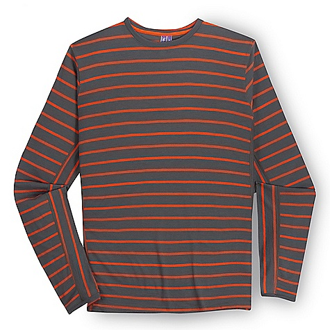 Free Shipping. Ibex Men's Straightaway LS Crew DECENT FEATURES of the Ibex Men's Straightaway Long Sleeve Crew Semi-fit Crew neck with set in sleeves Stripe pattern reverses on side panel and under sleeve Logo at back yoke The SPECS Fabric: 100% Zque New Zealand Merino Wool 18.5 Micron Engineered Jersey Knit Stripe 170 g/m2 - $129.95