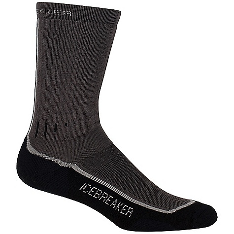 Camp and Hike Icebreaker Women's Hiker Mid Crew Sock DECENT FEATURES of the Icebreaker Women's Hiker Mid Crew Sock Achilles support Instep support Reinforced heel and toe LIN toe seam Breathable flat zone - $19.95