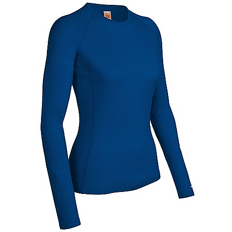 On Sale. Free Shipping. Icebreaker Women's Oasis Crewe Top DECENT FEATURES of the Icebreaker Women's Oasis Crewe Top Crewe neck Raglan sleeves Gussets for ease of movement Forward side seams Fits close to the body Flat-lock stitching Icebreaker tonal embroidered logo - $54.99