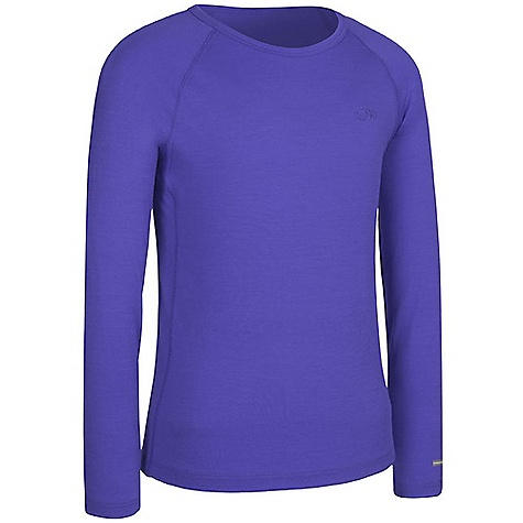 Icebreaker Kid's Long Sleeve Crewe Top 1-4 Years DECENT FEATURES of the Icebreaker Kids'Long Sleeve Crewe Top 9-14 Years Lightweight, warm merino breathes to prevent overheating Free-moving raglan sleeves Close to body fit Flatlock seams to prevent chafing - $39.95