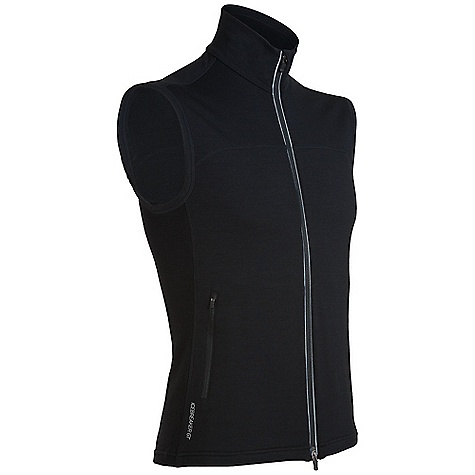 On Sale. Free Shipping. Icebreaker Men's Quantum Vest DECENT FEATURES of the Icebreaker Men's Quantum Vest Two-way front zipper, interior chin guard Eyelet panels for venting Zippered front hand pockets Drop-tail hem Icebreaker logo and GT word mark Weight: 260 g - $89.99