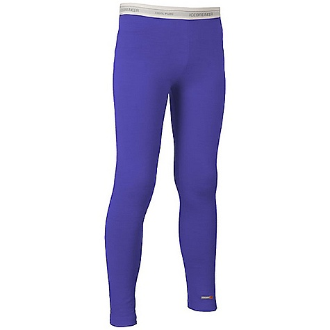 Icebreaker Kids' Leggings 9-14 Years DECENT FEATURES of the Icebreaker Kids' Leggings 9-14 Years Lightweight, warm merino breathes to prevent overheating Soft elastic waistband won't pinch Flatlock seams to prevent chafing - $39.95