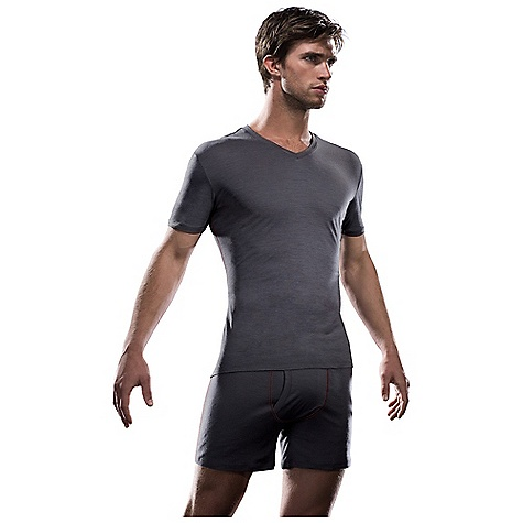 Free Shipping. Icebreaker Men's Apollo SS V DECENT FEATURES of the Icebreaker Men's Apollo Short Sleeve V Short sleeve v neck Neck band width is 1.5cm (0.6ins) in self fabric Inner back neck and shoulder binding with chain-stitch Icebreaker pip label - $60.00