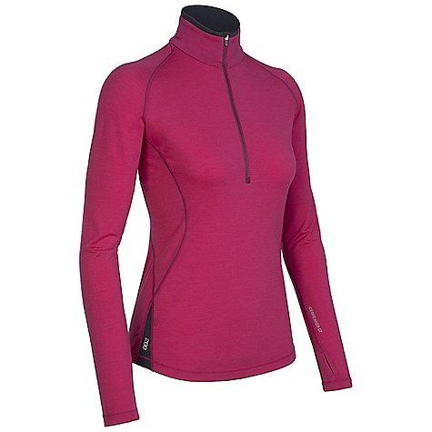 Free Shipping. Icebreaker Women's LS Pace Zip DECENT FEATURES of the Icebreaker Women's Pace Long Sleeve Zip Trim, athletic fit Zip neck collar Raglan sleeves Sleeve gusset for ease of movement Shaped hem Contrast Flat-lock stitching Reflective Icebreaker logo and GT wordmark - $109.95