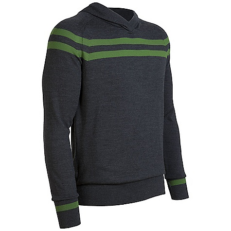 On Sale. Free Shipping. Icebreaker Men's Aries Hood Sweater DECENT FEATURES of the Icebreaker Men's Aries Hood Sweater Collegiate style with natural class Regular fit and longer length Our fine gauge, fully fashioned knitwear Crossover hood with ribbing for contoured fit Side pockets - $118.99