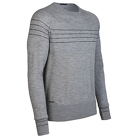 On Sale. Free Shipping. Icebreaker Men's LS Aries Crewe DECENT FEATURES of the Icebreaker Men's Long Sleeve Aries Crewe Your hip everyday sweater Regular fit High hip length Ergonomic side seams for comfort Fully-fashioned sleeve/ shoulder seams - $106.99
