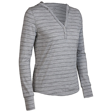 On Sale. Free Shipping. Icebreaker Women's Bliss Hood Top FEATURES of the Icebreaker Women's Bliss Hood Top SF 200 Relaxed fit Neck with deep placket button closure Front opening has raw edge finish Shaped hood and hem Forward shoulder seam Flat lock stitch detail Set-in sleeves with self fabric cuffs Icebreaker pip label - $63.99