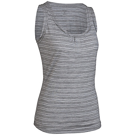 On Sale. Free Shipping. Icebreaker Women's Stripe Retreat Tank DECENT FEATURES of the Icebreaker Women's Stripe Retreat Tank SF200 Regular fit Scoop neck Gathered detail at centre front Raw edge detailing at neckline, armhole and hem Shaped hem Icebreaker pip label - $41.99