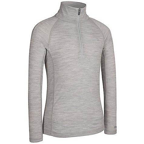 Icebreaker Kid's Mondo Zip 9-12 Years DECENT FEATURES of the Icebreaker Kids' Mondo Zip 9-12 Years Base layer for cold play Lightweight, warm merino breathes to prevent overheating Raglan sleeves/side gussets for moving comfort Close to body fit Flatlock seams to prevent chafing - $44.95