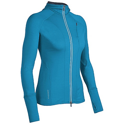 On Sale. Free Shipping. Icebreaker Women's Quantum Hood DECENT FEATURES of the Icebreaker Women's Quantum Hood GT 260 Essential workout protection and performance Two-way reflective zipper for visibility Thumb loops anchor and cover hands Eyelet panels increase venting Shaped hood stays on - $143.99
