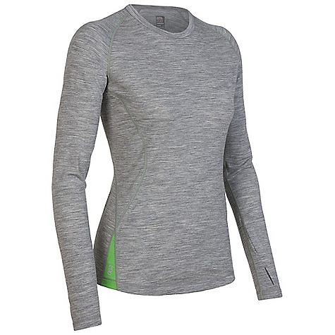 On Sale. Free Shipping. Icebreaker Women's LS Pace Crewe DECENT FEATURES of the Icebreaker Women's Pace Long Sleeve Crewe Trim, athletic fit Crewe neck Raglan sleeves Sleeve gusset for ease of movement Shaped hem Contrast Flat-lock stitching Reflective Icebreaker logo and GT wordmark - $68.99