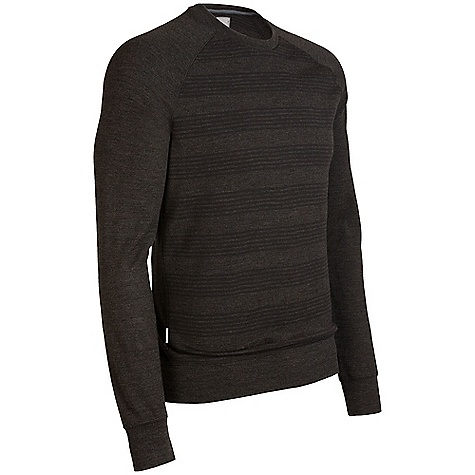 Free Shipping. Icebreaker Men's Eclipse Crewe DECENT FEATURES of the Icebreaker Men's Eclipse Crewe 260gm merino Out-of-this-world comfort No-bulk, insulating merino Highly breathable Free-moving raglan sleeves Classy feed stripe print - $120.00