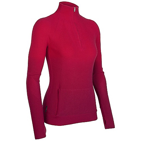 On Sale. Free Shipping. Icebreaker Women's Aurora Half Zip DECENT FEATURES of the Icebreaker Women's Aurora Half Zip Hand dip-dyed layer of luxury Fully fashioned raglan sleeves/elbow Thumb loops anchor sleeves and hide hands Discreet media cord loop at raglan seam Mock turtleneck with deep venting zip - $171.99