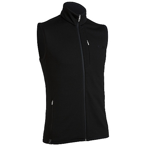 Free Shipping. Icebreaker Men's Sierra Vest DECENT FEATURES of the Icebreaker Men's Sierra Vest Real fleece 260 Core warmth from superior merino wool fleece Zip guard Drop tail adds coverage Zipped chest pocket with media cord hole - $139.95
