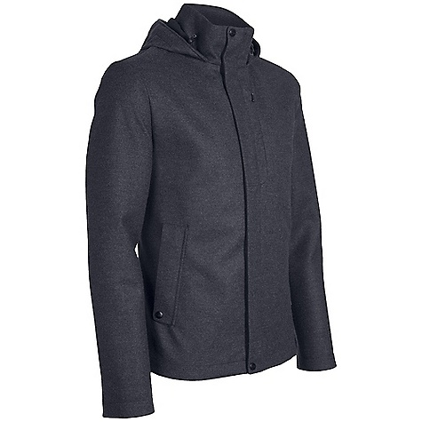 On Sale. Free Shipping. Icebreaker Men's Legacy Hood DECENT FEATURES of the Icebreaker Men's Legacy Hood Distinguished protection for downtown affairs Stretchy map print lining Adjustable shaped hood stays put Two way front zip with storm flap Interior stash pocket - $258.99