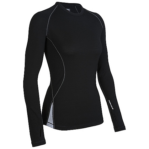 On Sale. Free Shipping. Icebreaker Women's LS Express Crewe DECENT FEATURES of the Icebreaker Women's Express Long Sleeve Crewe Trim, athletic fit Crewe neck Raglan sleeves Sleeve gusset for ease of movement Shaped hem Contrast Flat-lock stitching Reflective Icebreaker logo and GT wordmark - $75.99