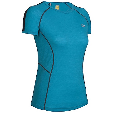 Free Shipping. Icebreaker Women's SS Quest Crewe DECENT FEATURES of the Icebreaker Women's Quest Short Sleeve Crewe The workout crewe as agile as you Body-hugging GT 150 dries quickly MP3 tunes via cord loophole Eyelet panels Increase venting Back stash pocket for keys/gels Fast drying and odour resistant - $79.95
