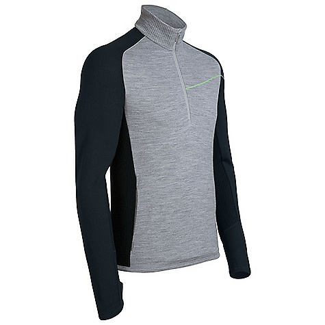 On Sale. Free Shipping. Icebreaker Men's Crosscut Zip DECENT FEATURES of the Icebreaker Men's Crosscut Zip 320gm merino Alpine style for mountains and meetings Lightweight merino insulates without being stuffy Ergonomic cuffs with thumb loops cover hands Easy-motion raglan sleeves Front hand pockets - $94.99