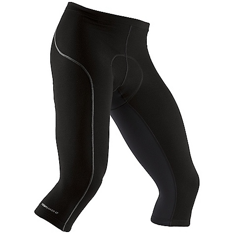 Free Shipping. Icebreaker Men's Cadence 3-4 Pant DECENT FEATURES of the Icebreaker Men's Cadence 3/4 Pant 84% merino/14% nylon/ 2% spandex Your three-season riding buddy Ergonomic 6-panel construction Durable, supportive Ponte fabric retains shape Superior anatomical cushioning comfort Gripper hem prevents ride-up - $179.95