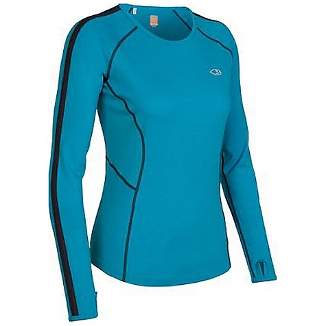 Free Shipping. Icebreaker Women's LS Quest Crewe DECENT FEATURES of the Icebreaker Women's LS Quest Crewe Classic styling and performance Body-hugging GT 200 dries fast MP3 tunes via cord loophole Eyelet panels increase venting Back stash pocket for keys/gels Fast drying and odour resistant - $99.95