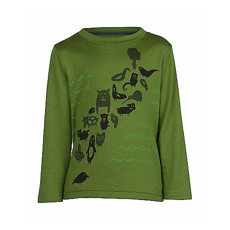 Icebreaker Boys' LS Top OinkBaa DECENT FEATURES of the Icebreaker Boys' Long Sleeve Top OinkBaa Everyday comfort for kidding around Lightweight, warm merino breathes to prevent overheating Animal island graphic - $34.95