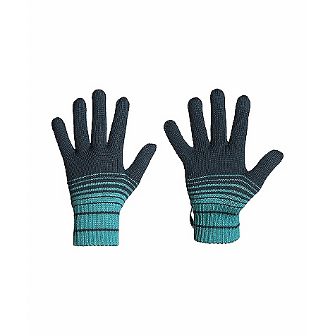 Icebreaker Stripe Glove 320 DECENT FEATURES of the Icebreaker Stripe Glove 320 Refined hand warmth Our warmest merino layer Fully fashioned, sophisticated knit finish Ombre stripe adds style Contrast-Color interior opening - $29.95