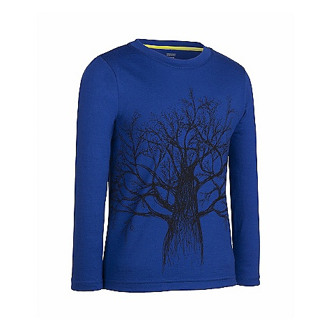 Icebreaker Boys' LS Top Timber DECENT FEATURES of the Icebreaker Boys' Long Sleeve Top Timber Everyday comfort for kidding around Lightweight, warm merino breathes to prevent overheating All over front tree graphic - $39.95