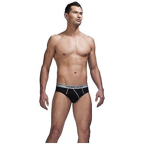 Icebreaker Men's Anatomica Brief DECENT FEATURES of the Icebreaker Men's Anatomica Brief 150gm merino with a touch of LYCRA for ultimate fit Closed contour pouch shifts left in.Bin. satin label at centre back waistband 3.2cm (1.3ins) Icebreaker satin jacquard waistband Beast pip label - $34.95